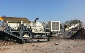 河南履带移动式现场建筑废弃物破碎生产线