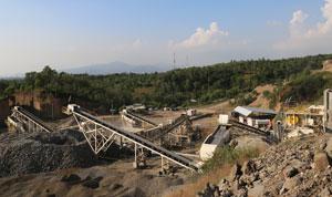 豪瑞印尼安山岩制砂生产线