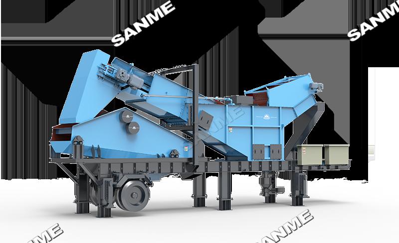 水浮选除轻物质专利产品:PPHF系列移动式带式浮选机