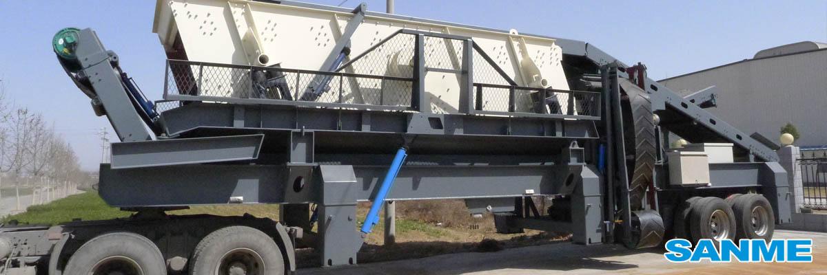 PP系列轮胎式移动筛分站