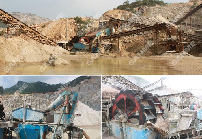 厦门时产30吨细砂回收生产线设备配置示意图