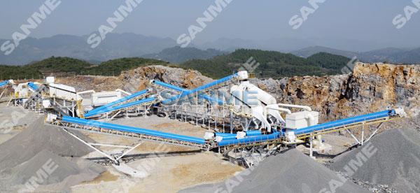 拉法基年产100万吨石灰岩制砂生产线