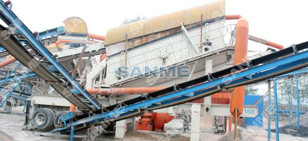 江苏时产200吨移动式玄武岩破碎生产线
