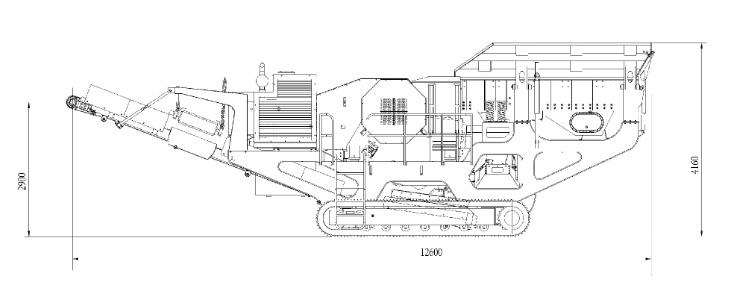 山西时产150吨移动式花岗岩破碎生产线设备配置示意图