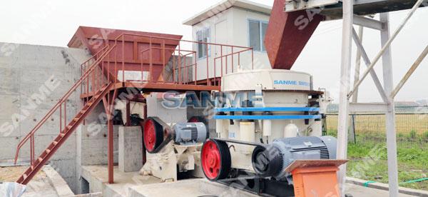 上海时产150吨花岗岩破碎生产线