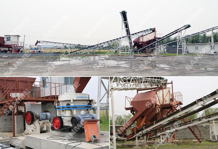 上海150吨花岗岩生产线设备配置示意图