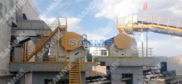 青海时产600吨石灰石破碎生产线