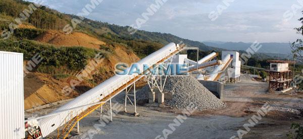 老挝时产230吨石灰石破碎生产线