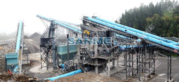 东方希翼重庆时产800吨石灰石破碎生产线