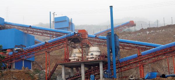 南桐水泥时产500吨石灰石制砂生产线