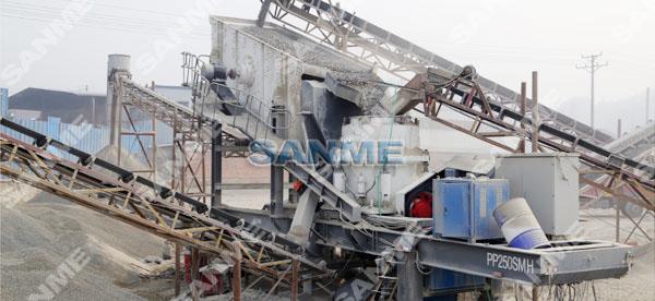 浙江时产150吨移动式花岗岩破碎生产线