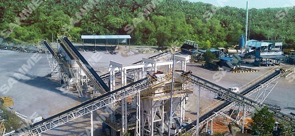 豪瑞马来西亚时产350吨花岗岩破碎生产线