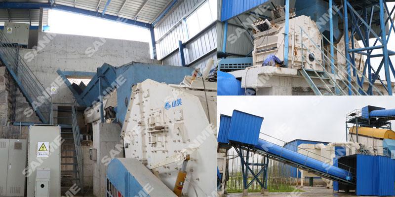 贵州年处理300万吨建筑垃圾处理生产线设备配置示意图