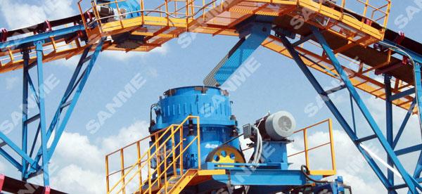 哈萨克斯坦时产330吨花岗岩破碎生产线