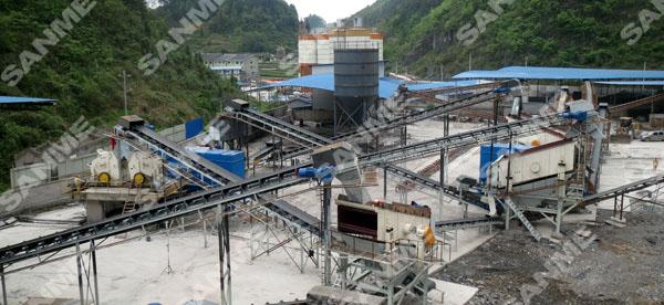 拉法基时产500吨石灰岩制砂生产线