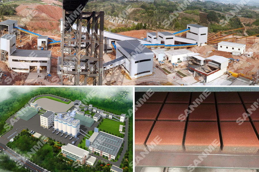 中天集团浙江金华时产300吨建筑垃圾资源化利用项目设备配置示意图
