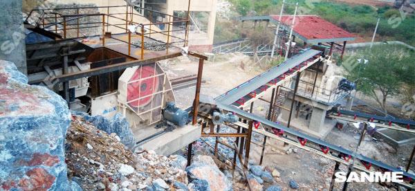 海螺缅甸时产150吨石灰石破碎生产线