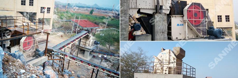 海螺缅甸时产150吨石灰石破碎生产线设备配置示意图