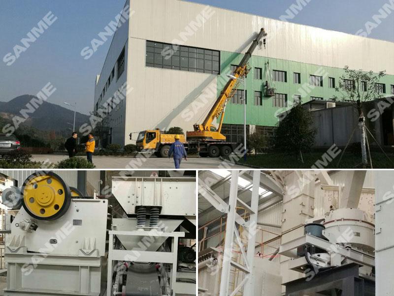 浙江杭州天子岭建筑装修垃圾资源化再生利用设备配置示意图