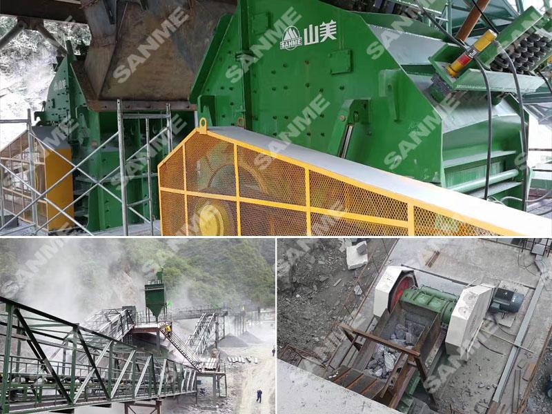 西安中材时产300吨石灰石破碎生产线设备配置示意图