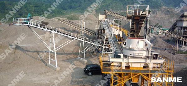 印尼时产100吨安山岩制砂生产线
