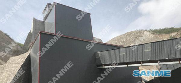 山西临汾时产500吨石灰石破碎生产线