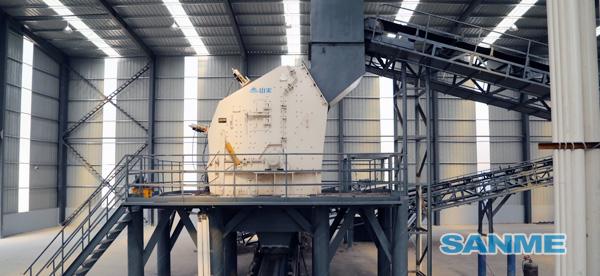 上海年处理100万吨建筑垃圾处理生产线