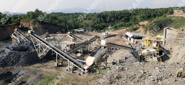 豪瑞印尼时产300吨安山岩制砂生产线