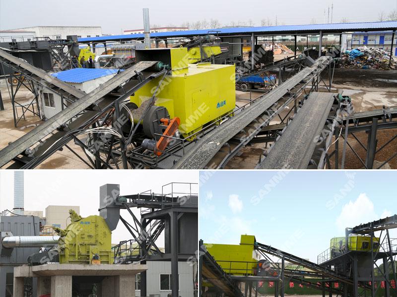 江苏昆山装修垃圾处理生产线设备配置示意图