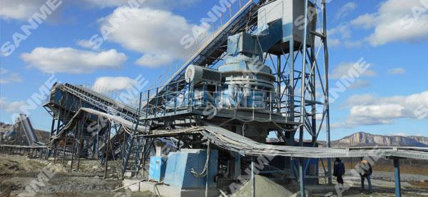 俄罗斯时产270吨蛇纹岩制砂生产线