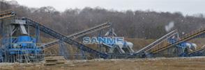 俄罗斯270吨蛇纹岩制砂生产线