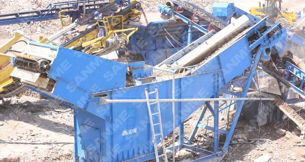移动式建筑垃圾处理生产线