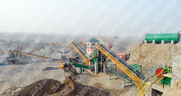 河卵石生产线