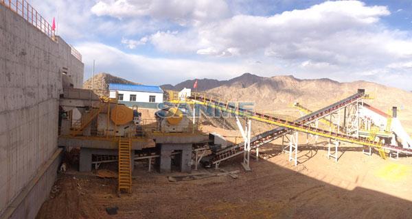 石灰石生産線