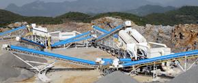 拉法基年产100万吨石灰岩破碎生产线