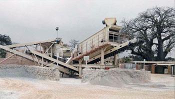 刚果金100吨/时石灰石制砂生产线