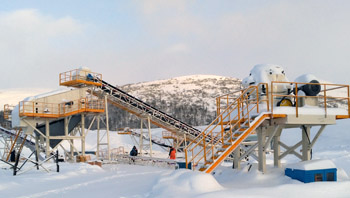 俄罗斯时产100吨辉绿岩破碎生产线