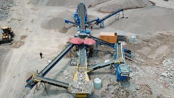 浙江东阳时产100吨移动式建筑垃圾处理生产线