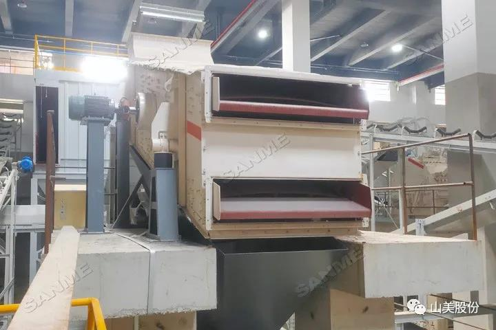 项目|山美高性能建筑固废处理装备服务于上海年处理70万吨建筑固废资源化项目